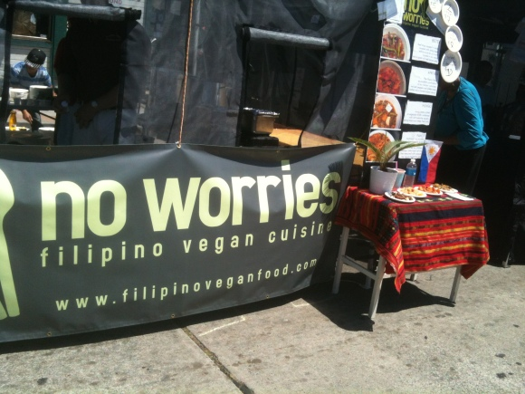Vegan food at the Laurel Street Fair.