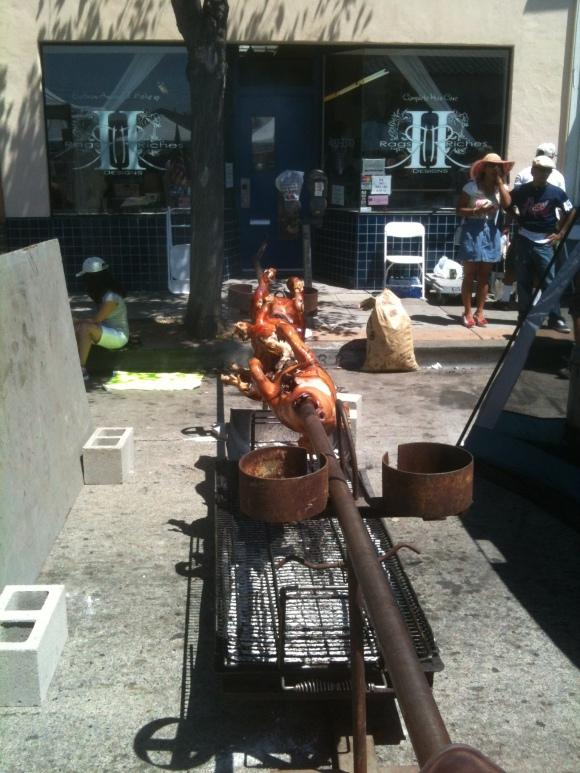 Pig Roast at the Laurel Street Fair.